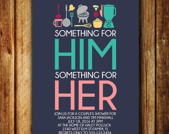 Something For Him/Her Wedding Shower Invite