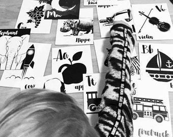Alphabet Flash Cards - Monochrome