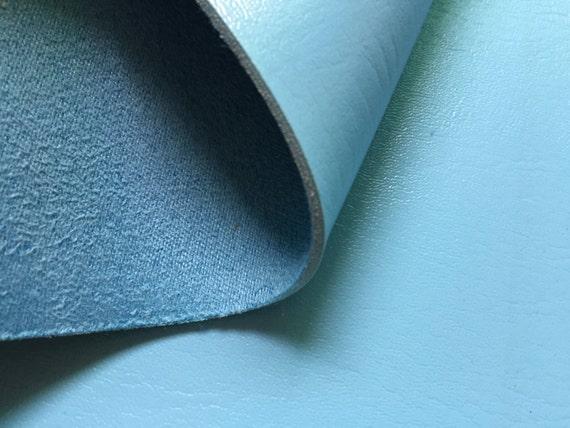 1 4 Yard 2 0mm Sky Blue Elephant Skin Leather Fabric