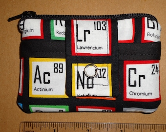 Periodic Table Fabric Wallet