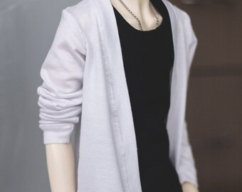 Cardigan White SD13 Boys Girls