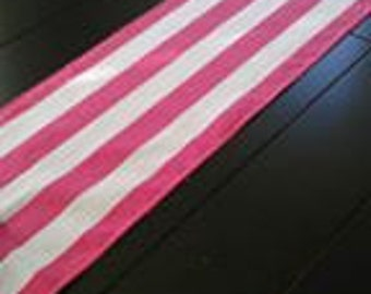 Pink Stripe Table Runner