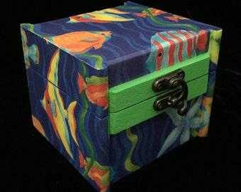 Decoupaged &Handpainted Jewelry Box