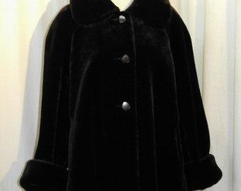 Faux Fur Black Swing Jacket