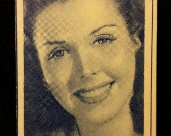 Original 1947 Ann Miller Turf Cigarette Card, Vintage, Hollywood, Star, Movie, Poster, Columbia