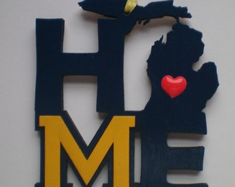 University of Michigan Wolverines HOME Christmas Ornament