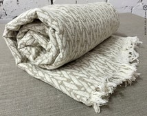 Stonewashed Linen Bed Throw- Twin/Full Size Bedspread- Softened Linen Bed Cover-Bed Quilt-Summer Blanket -Picnic Blanket - Wedding Gift