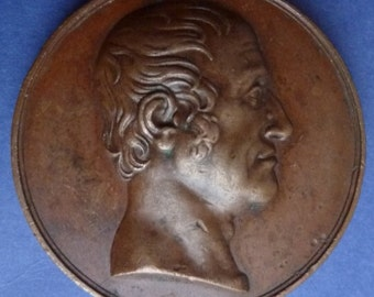 Fascinating British Historical Medal of the Eccentric Earl of Bridgewater (1823)