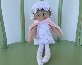 Clearance Sale: Classic Little Red Riding Hood's Grandmother Handmade Doll