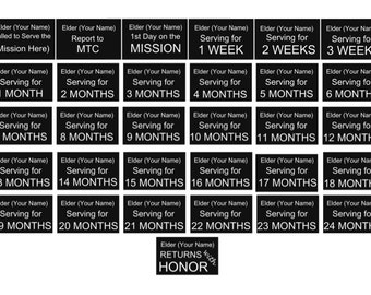 Custome LDS Missionary Mission Count Down Stickers