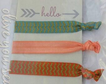 Elastic Hair Ties, Girls Hair Ties, FOE Hair Ties, Toddler Accessories, Women's Accessories-F-05