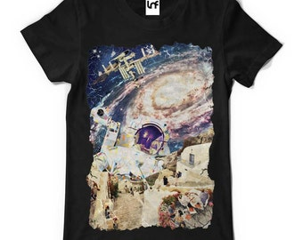 Stepped Out Space Mens T-Shirt (SB013)