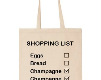 Funny Shopping List Tote Bag (Cotton) (T666)