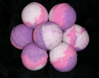 Love Spell 4.5 oz Bath Bombs Purple Pink Bath Bomb, Bridal Shower Favor, Baby Girl Shower Thank You Gifts for Her, Bachelorette Party Favor