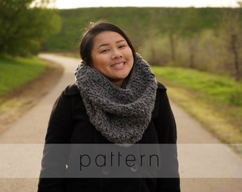 The Melanie Cowl | crochet cowl pattern | infinity scarf | crochet pattern | photo tutorial | digital pattern | instant PDF download