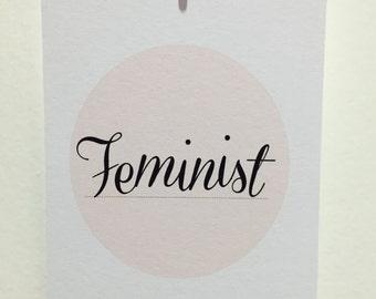 Feminist motivational quote print.