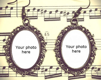 Personalized photo earrings
