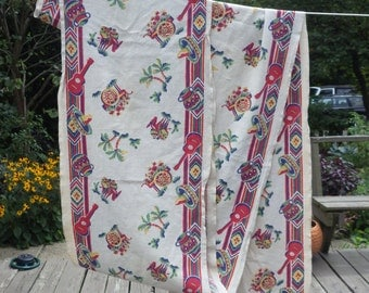 7 yds Mexicana Fabric Table Runner Vintage Fabric for towels