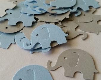 Blue Elephant Baby Shower, Elephant Decor,  Elephant Party Decorations, Elephant Confetti,  Baby Elephant, Blue and Gray Decorations