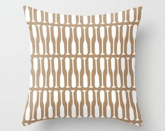 Oar Pillow Cover, brown pillow, Oar Decor, lake pillow, nautical pillow, cabin pillow, graphic pillow, modern cottage chic, choose color