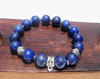 Third Eye Chakra Gemstone Bracelet 6th Chakra Bracelet Third Eye Chakra Meditation Yoga Healing Bracelet Ajna ThirdEye Chakra Charm Bracelet