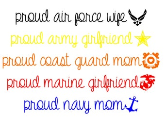 Proud Military Decals