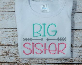 BIG SISTER shirt, Middle Sister shirt, Little Sister shirt, Shirts for sisters
