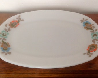 Oblong JAJ Pyrex Plate/Serving Dish. 1960's.