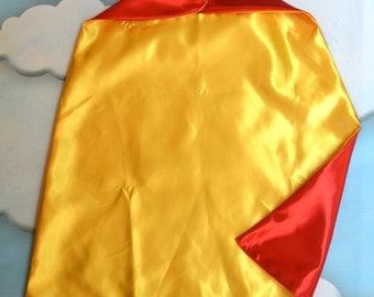 Cape. Plain Cape. Reversible Cape. Red and Yellow Cape. Kids Cape. Quick Ship Cape.