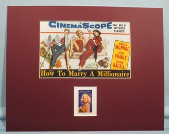 """Marilyn Monroe in""""How to Marry a Millionaire"""" with Lauren Bacall and Betty Grable honored by the Marilyn Monroe stamp"""
