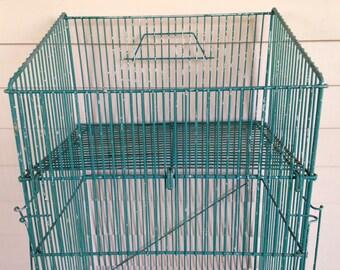 Vintage Wire Storage Bin, Laundry Room Organiser, Vegetable Bin Holder, Industrial Decor