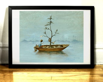 The Boat - Art print