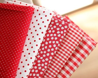 Red Color Series Fabric by Yard - 5 Colors Selection