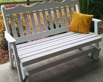 Yellow Pine Royal English 5ft. Porch Glider