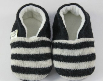 Hipster Toddler Outfit- Trendy Baby Clothes- Baby Boy Clothes- Boho Baby Gift- Toddler Slippers- Gender Neutral Outfit- Black and White Shoe