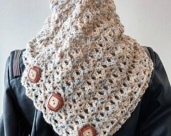 Knit Cowl Scarf Snood, Scarf, Snood, Women's Neckwarmer