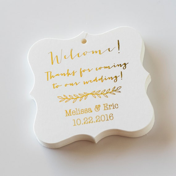 Thanks For Coming To Our Wedding Tags Foiled By