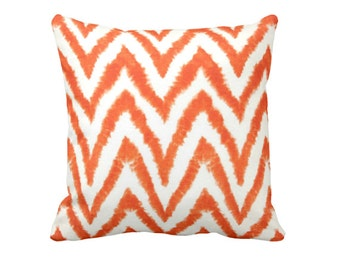 SALE | 50% OFF: 18x18 Pillow Cover Orange Pillow Cover Orange Throw Pillow Cover Orange Ikat Pillow Orange Chevron Pillow Decorative Pillows