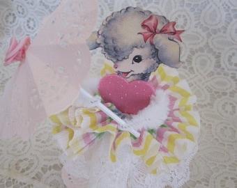 Bump Chenille Lamb Paper Doll