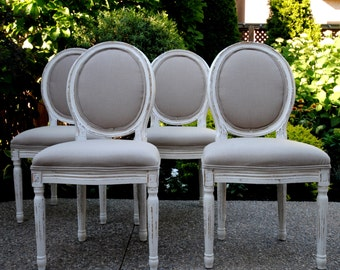 SOLD!!-Stunning 6 dining chairs