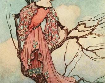 Warwick Goble illustrated Fairy Fridge Magnet