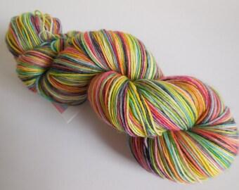 Nelly The Elephant Hand Dyed Superwash BFL/ Nylon Sock Yarn
