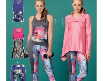 McCall's Pattern M7446 Misses' Jacket, and Seam-Detail Tank Tops, Tunic and Leggings