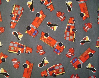Fire Engine Cotton Fabric ( 1 yd 5 in)