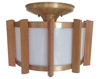 1970s Drum Ceiling Light
