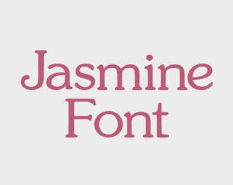"""Jasmine Embroidery Machine Font in 4 sizes (0.5"""", 1"""", 1.5"""" & 2"""") upper and lower case + numbers - INSTANT DOWNLOAD -  Item # 1080"""