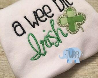 A Wee Bit Irish Onesie/Tshirt