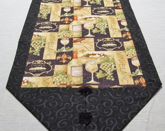 Wine Vineyard Table Runner