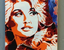 Dolly Parton Painting on Stretched Canvas