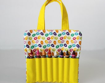 SALE Jelly Bean Crayon Holder | Crayon Tote | Activity Tote | Busy Bag | Art Supply Bag |Child Purse | Travel Bag | Gifts under 10